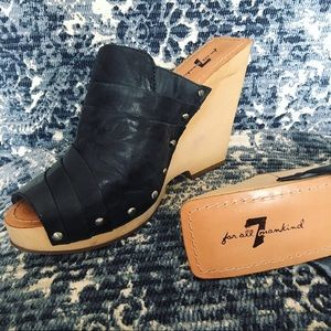 7 for all Mankind 1970's INSPIRED Platform Wedges